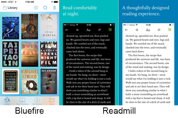 Leggere eBook su iPhone: Bluefire e Readmill