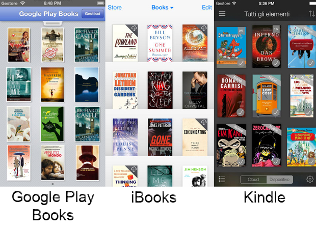 Leggere eBook su iPhone: Google Paly Books, iBook, Kindle