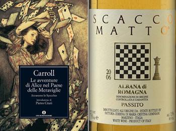 Il vino Scacco Matto e Le avventure di Alice nel paese delle meraviglie