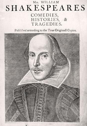Frontespizio del First Folio delle opere di William Shakespeare