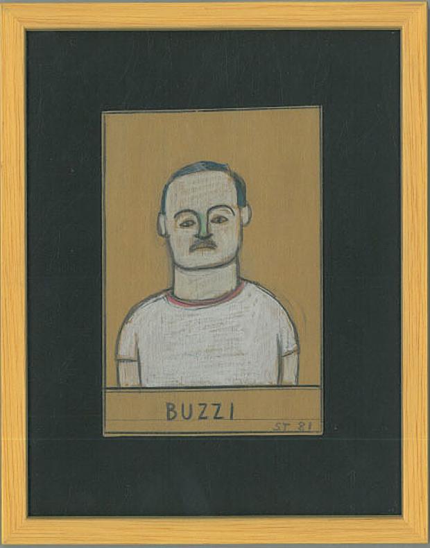Ritratto di Aldo Buzzi realizzato da Saul Steinberg nel 1971