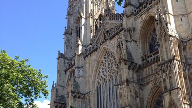 York, un dettaglio della cattedrale The Minster