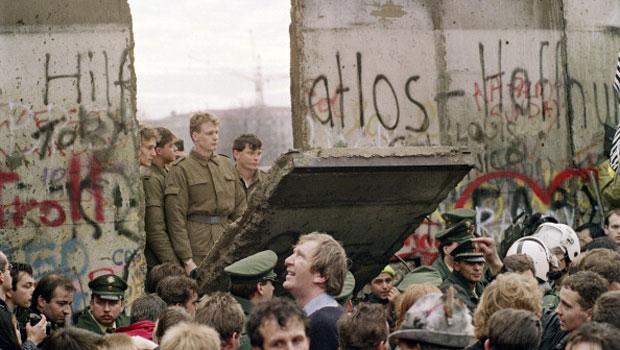 L'abbattimento del muro di Berlino
